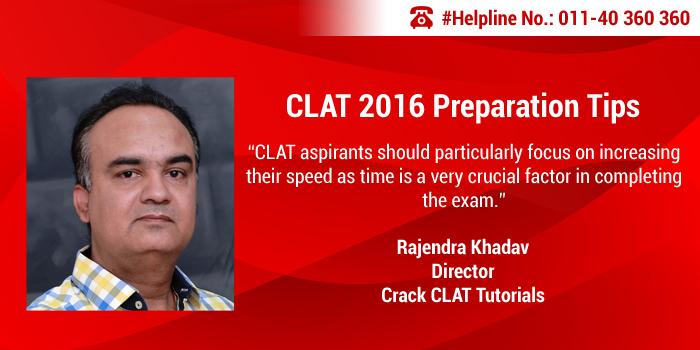 CLAT 2016 Preparation Tips by Rajendra Khadav of Crack CLAT Tutorials