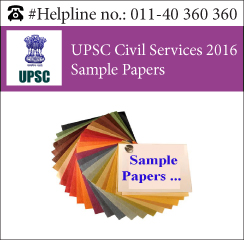 UPSC Civil Services 2016 Sample Papers