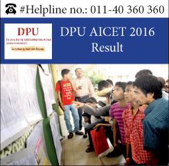 DPU AICET 2016 Result