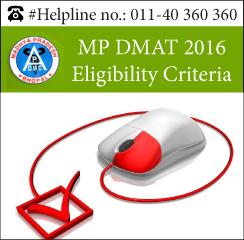 MP DMAT 2016 Eligibility Criteria