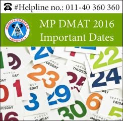 MP DMAT 2016 Important Dates