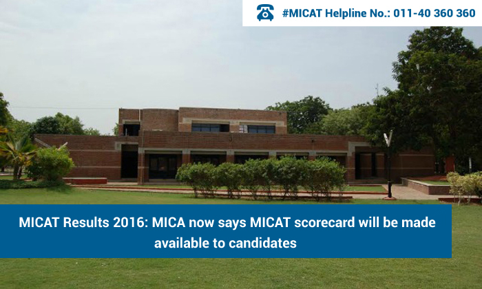 MICAT Results 2016: MICA now says MICAT scorecard will be made available to candidates
