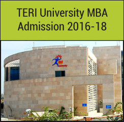 TERI University conducts MBA Admission 2016-18