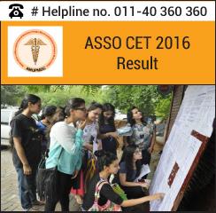 ASSO CET 2016 Result