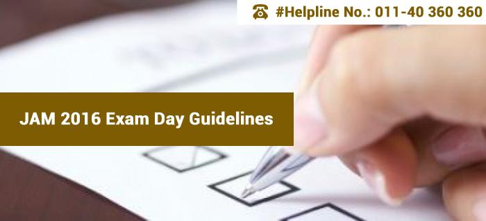 JAM 2016 Exam Day Guidelines