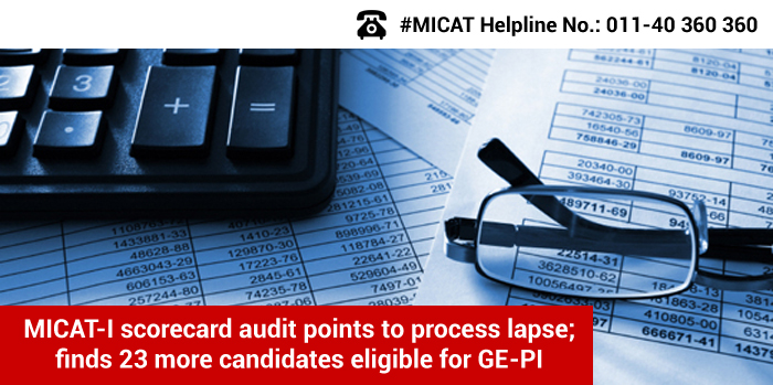 MICAT-I scorecard audit points to process lapse; finds 23 more candidates eligible for GE-PI