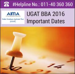 UGAT BBA 2016 Important Dates