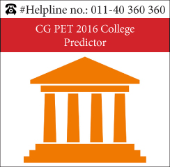 CG PET 2016 College Predictor