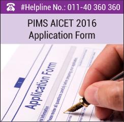 PIMS AICET 2016 Application Form