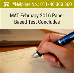 MAT February 2016 paper based test concludes on February 7