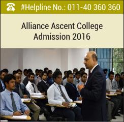 Alliance Ascent College announces MBA admission 2016-18