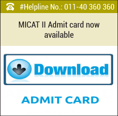 MICAT II 2016 Admit Card available from February 9