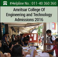 Amritsar College of Engineering and Technology Announces MBA admissions 2016