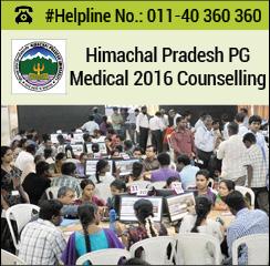 Himachal Pradesh PG Medical 2016 Counselling