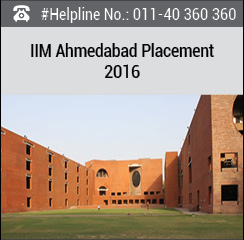 IIM Ahmedabad PGP Cluster 1 Final Placement 2016