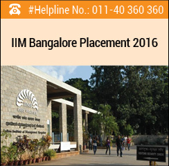 IIM Bangalore Final Placement 2016 - Consulting sector recruits 30% students