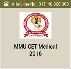 MMU CET Medical 2016