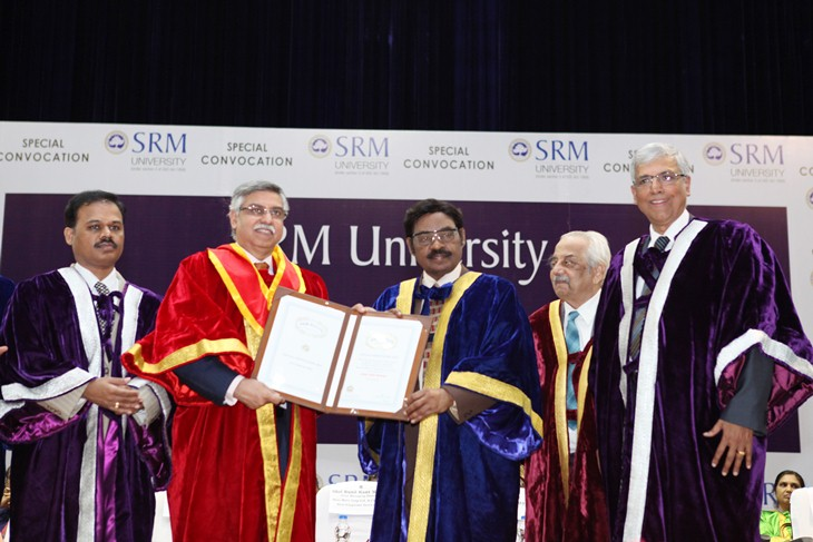 SRM University confers D.Litt on Sunil Kant Munjal for his contribution to education, business and humanity