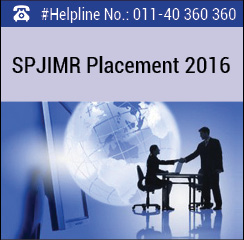 SP Jain Final Placement 2016; Consulting emerged as preferred domain
