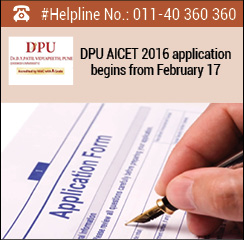 DPU AICET 2016 application begins from February 17