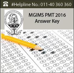 MGIMS PMT 2016 Answer Key