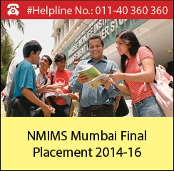 NMIMS 2016 Final Placement; Average salary marginally increases to Rs. 17.09 lakh