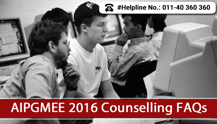 AIPGMEE 2016 Counselling FAQs