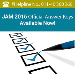 JAM 2016 Official Answer Keys Available Now!