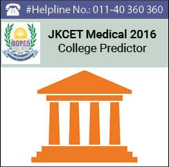 JKCET Medical 2016 College Predictor