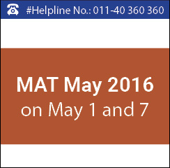 MAT May 2016 on May 1 and 7; Application ends on April 19