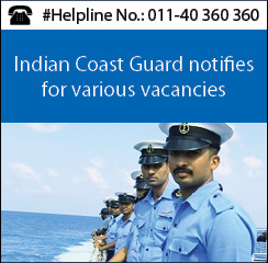 Indian Coast Guard notifies for various vacancies