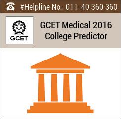 GCET Medical 2016 College Predictor