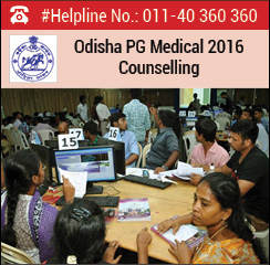Odisha PG Medical 2016 Counselling