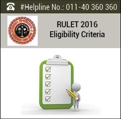 RULET 2016 Eligibility Criteria