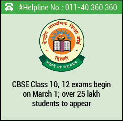 CBSE 10th and 12th exams begin on March 1; over 25 lakh students to appear