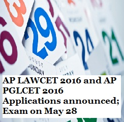 AP LAWCET and AP PGLCET 2016 Application Forms announced; Exam on May 28