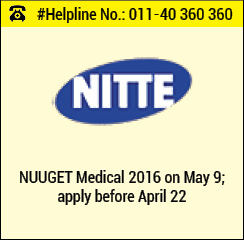 NUUGET Medical 2016 on May 9; apply before April 22