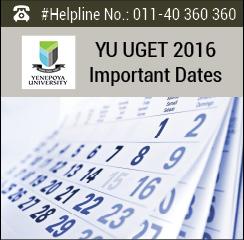 YU UGET 2016 Important Dates