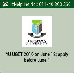 YU UGET 2016 on June 12; apply before June 1