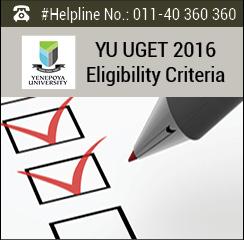 YU UGET 2016 Eligibility Criteria