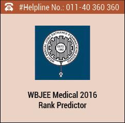 WBJEE Medical 2016 Rank Predictor