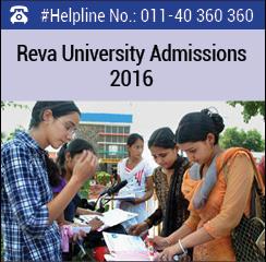 Reva University Announces MBA admissions 2016
