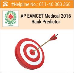 AP EAMCET Medical 2016 Rank Predictor