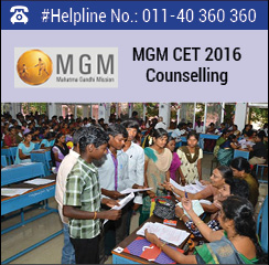 MGM CET 2016 Counselling