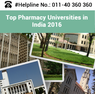 Top Pharmacy Universities in India 2016