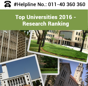 Top Research Universities in India 2016