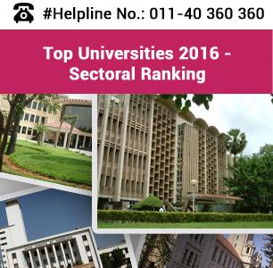Top Sectoral Universities in India 2016