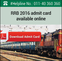 RRB NTPC 2016 admit card available online