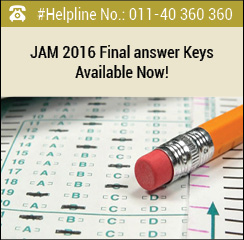 JAM 2016 Final Answer Keys Available Now!