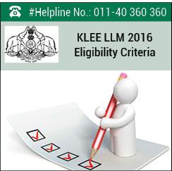 KLEE LLM 2016 Eligibility Criteria
